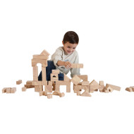 Woodgrain Foam Blocks, 80 pcs. (set of 80)