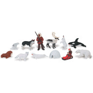 Arctic Animals Figures  (pack of 12)