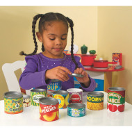 Grocery Cans Play Food Set (set of 10)