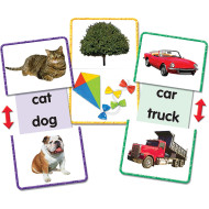 Picture Word Slide and Learn Flash Cards (set of 13)