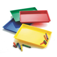 Large Colored Tray, Set of 4