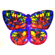 Life-Size Finger Paint Paper - Butterfly Shape  (pack of 24)