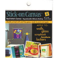 "Stick-On Canvas 8""x8"" (pack of 8)"
