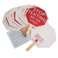 Stop Texting Sign, Assembled (pack of 24)