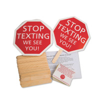 Stop Texting Sign, Unassembled (pack of 100)