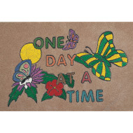 "Decorative Mat -  ""One Day At A Time"""