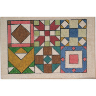 Decorative Mat - Antique Quilt Blocks