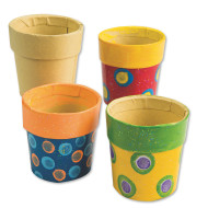 "Paper Mache Mini Pots 2""x2""  (pack of 12)"