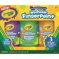 Crayola® Washable Finger Paints, Brights (set of 3)