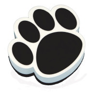 Paw Print Design Magnetic White Board Eraser (pack of 6)