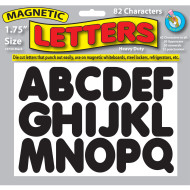"Magnetic Letters, 1-3/4""H (pack of 82)"
