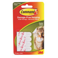 3M Command™ Adhesive Damage Free Poster Strips ( of 12)