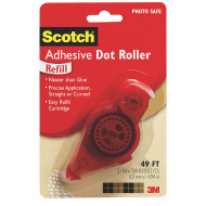 Scotch® Permanent Double sided Adhesive Dot Roller Refill, 49