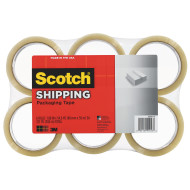 Scotch® Lightweight Shipping Packaging Tape (pack of 6)