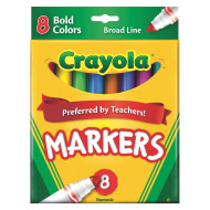 Crayola® Classic Markers, Bold Colors  (box of 8)