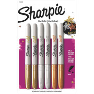 Sharpie® Fine Tip Metallic Markers (pack of 6)