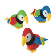 Plush Parrots (pack of 12)