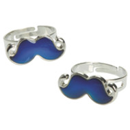 Moustache Mood Rings (pack of 12)