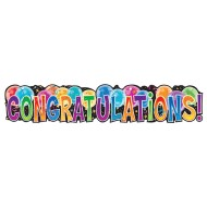 Jointed Congratulations Banner (pack of 6)