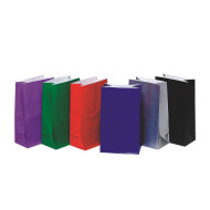 "10"" Solid Color Paper Gift Bags  (pack of 36)"