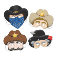 Western Masks (pack of 4)