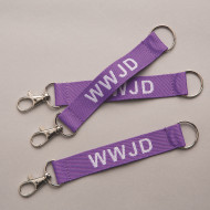 WWJD Lanyard Key Chains (pack of 12)