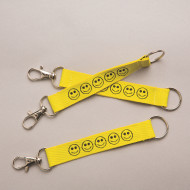Smile Face Lanyard Key Chains (pack of 12)