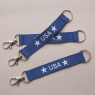 USA Lanyard Key Chains (pack of 12)