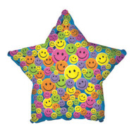 Smiley Face Star Mylar Balloons ( of 10)