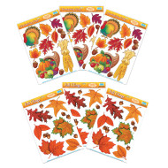 Fall Leaf Clings  (pack of 6)