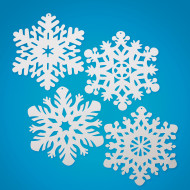 "14.4"" White Snowflakes  (pack of 24)"