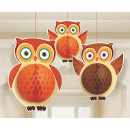 Honeycomb Owl (pack of 3)