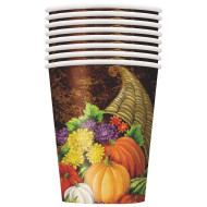 Fall Horn of Plenty 9-oz. Cups (pack of 8)