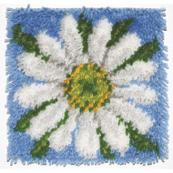 "Daisy Latch Hook Kit, 12""x12"""