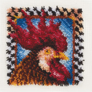 "Rooster Latch Hook Kit 12""x12"""