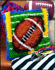 "Football Latch Hook Kit, 12""x12"""