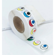 Colored Eye Stickers  (roll of 1000)