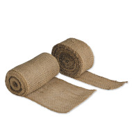 "Natural Burlap Ribbon, 6"" wide x 5 yds. long"