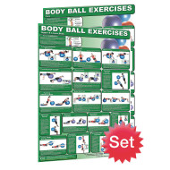 Exercise Ball Poster Set (set of 2)