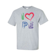I Love PE T-Shirt, Sport Grey