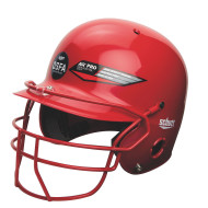 Baseball/Softball Ponytail Helmet with Face Guard
