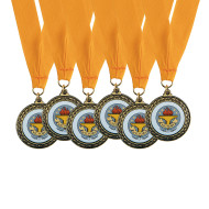 Victory Cup Award Medal with Neck Ribbon (pack of 6)