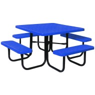 "Picnic Table, Square 46"", Coated Metal"