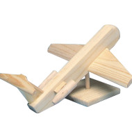 Unfinished Wood Jet Liner Kit, Unassembled
