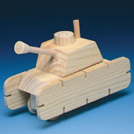Unfinished Wood M-4 Tank Kit, Unassembled