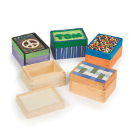 Unfinished Wood Trinket Boxes (pack of 12)