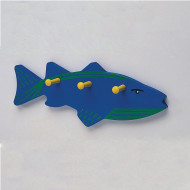 Unfinished Wooden Fish With Shaker Pegs, Unassembled