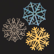 Snowflakes Laser Cut Wood Shapes (pack of 24)