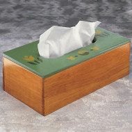 Unfinished Rectangular Tissue Box, Unassembled