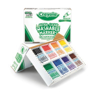 Crayola® Ultra-Clean Washable Marker™ Classpack®, Set of 200 (box of 200)